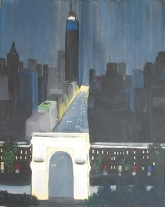 """""""Fifth Avenue"""". 14"""" x 20"""". Acrylic on canvas. 2007."""