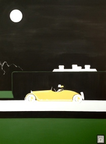 """Gin Lane 2"" 30 x 40"" Acrylic on canvas."
