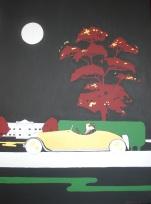 """Gin Lane"". 30"" x 40"". Acrylic on canvas. 2008."