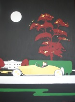"""Gin Lane"". 30"" x 40"". Acrylic on canvas. 2008."