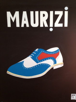 """Maurizi Shoe"". 30"" x 40"". Acrylic on canvas. 2011."