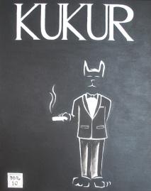 """Kukur"". 11"" x 14"". Acrylic on canvas. 2010."