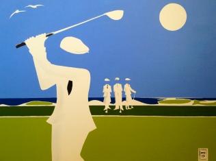 """Over The Gulf"" 18 x 24"" Acrylic on canvas."