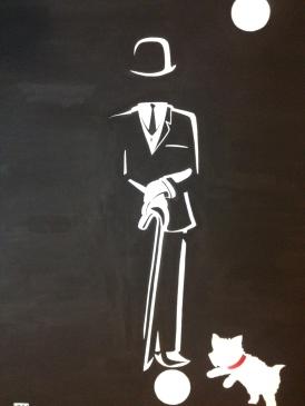 """""""R. Hampton And Bentley"""". 30"""" x 40"""". Acrylic on canvas."""