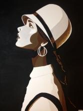 """""""V 1922"""". 30"""" x 40"""". Acrylic on canvas."""