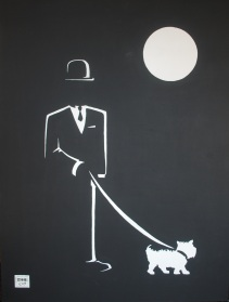 """Walking Sal"". 30"" x 40"". Acrylic on canvas. 2010."
