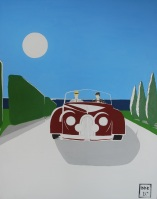 """Wyandanch Lane"". 20"" x 30"". Acrylic on canvas. 2010."