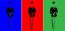 """3 Gentlemen With Canes"". Digital Illustration."