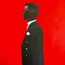 """Jeffrey"" Acrylic on canvas. 30 x 40"""